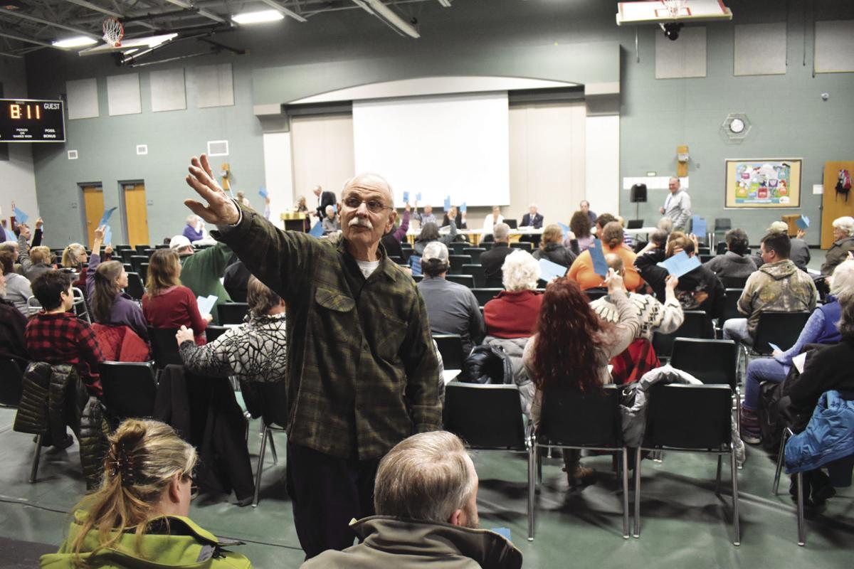 Tamworth Annual School District meeting 2019 Steve Gray