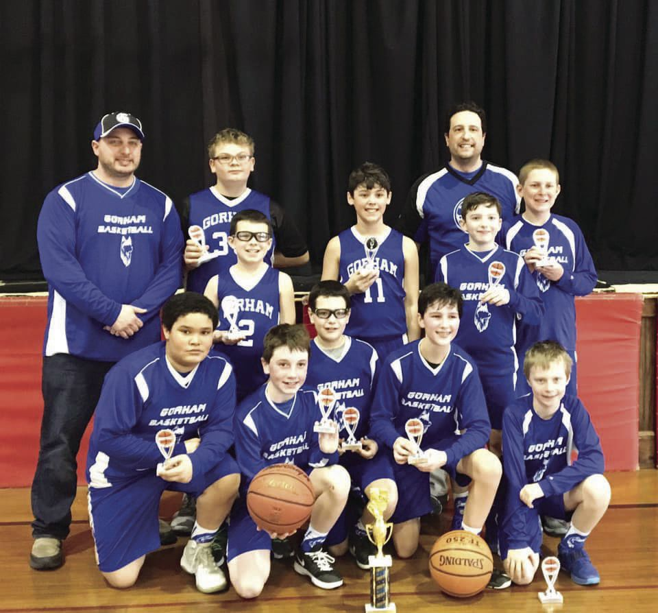 Gorham Rec 5/6 boys runners up in Lancaster tourney