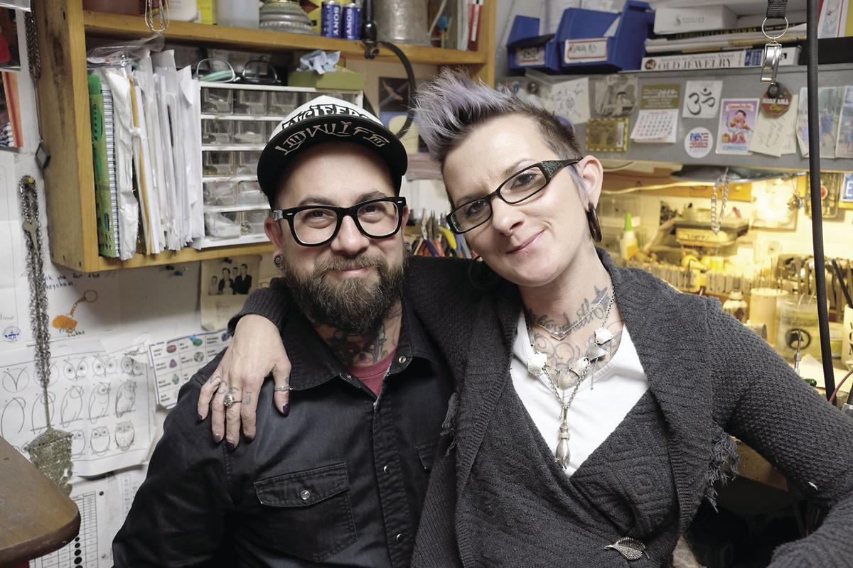 2-9-19 Greg and Emily Mossman in Shop 1