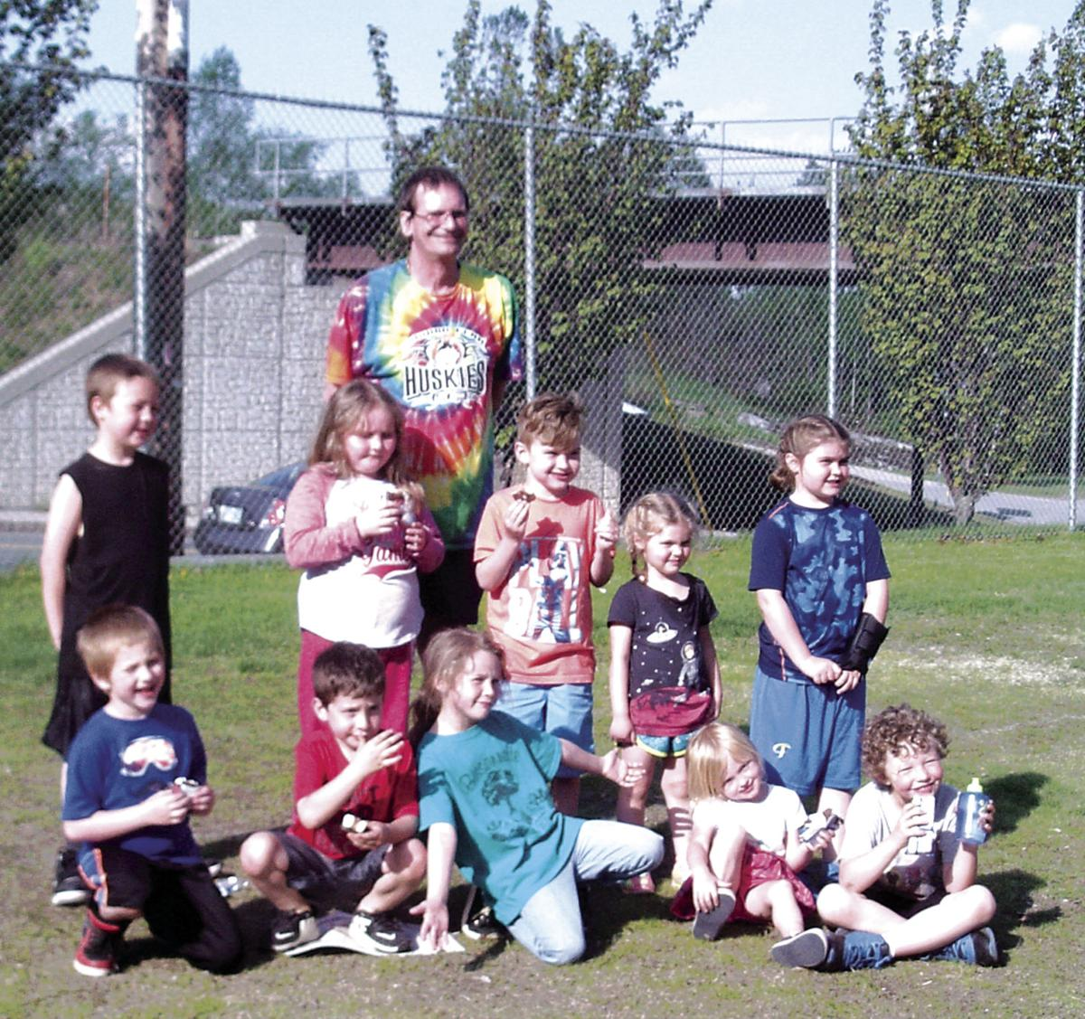 Coach James Couhie and Berlin Recreation Kickball 2018 Participants.JPG