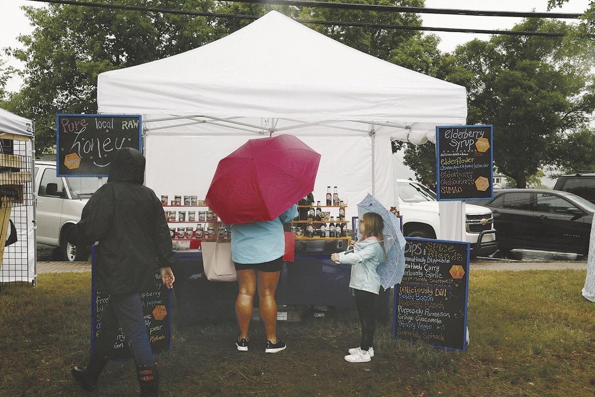 07-03-21 Craft Fair umbrellas at Puckerbush