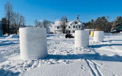 Milan's 250th Anniversary Snow Sculpturing Contest