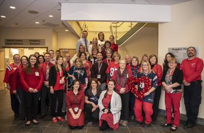Huggins Hospital employees take part in National Wear Red Day