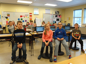 Wobble Chairs A Hit At Pine Tree Elementary News Conwaydailysuncom