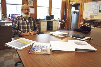 Eaton selectman Richard Fortin with ambulance proposals