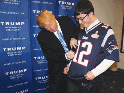Conway teen meets idol Trump