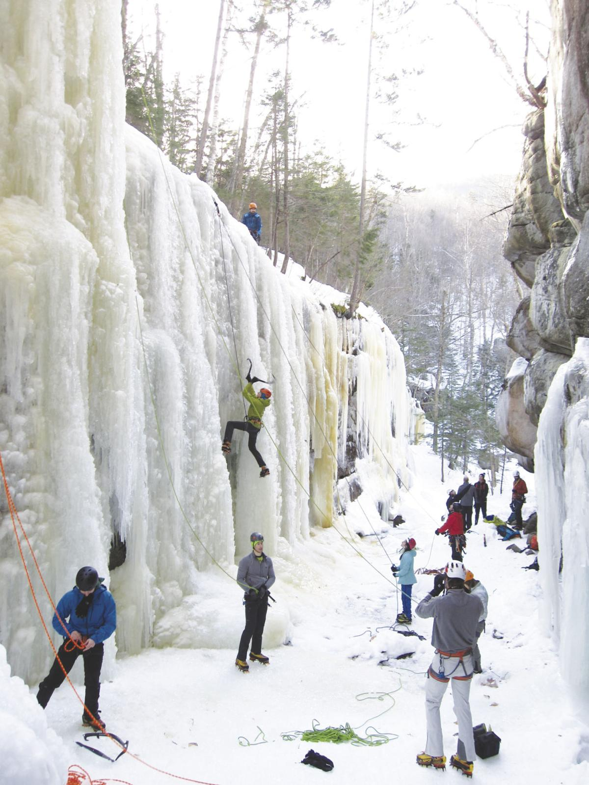 12-22-18 Parsons-Ice climbers at Pitcher Falls