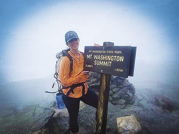 Mel and Floki on Mt Washington