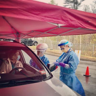 Drive Up COVID testing at Huggins