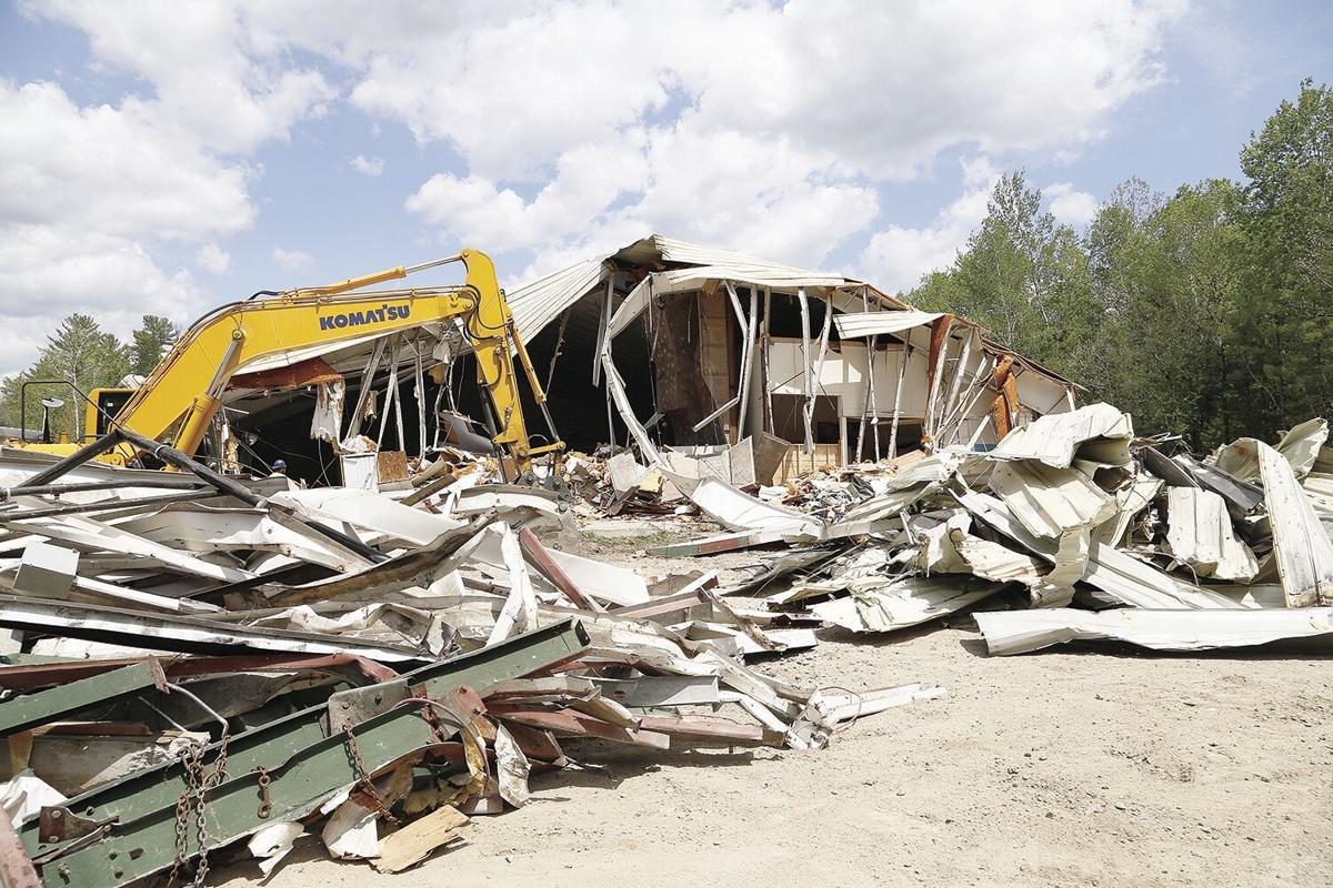 05-18-21 Artist Falls Demo piles of debris