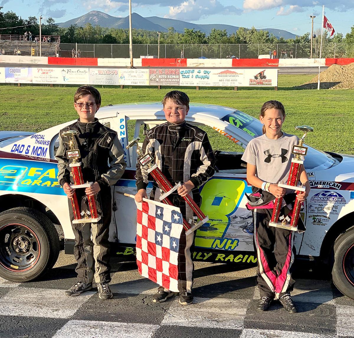 Car Racing - Alexis Lundblad second place in Groveton
