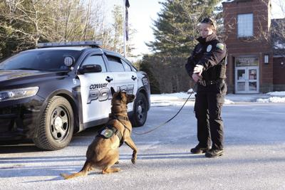 Morganne Sterl with K-9 Summit