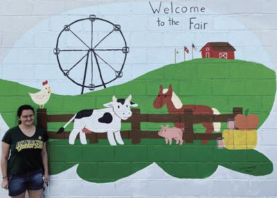 ATU Student Paints New Mural for Pope County Fair