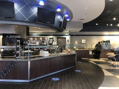 Harper dining hall empty