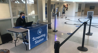 Screening station on campus
