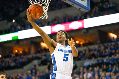 Ty-Shon Alexander moves around the hoop against Butler