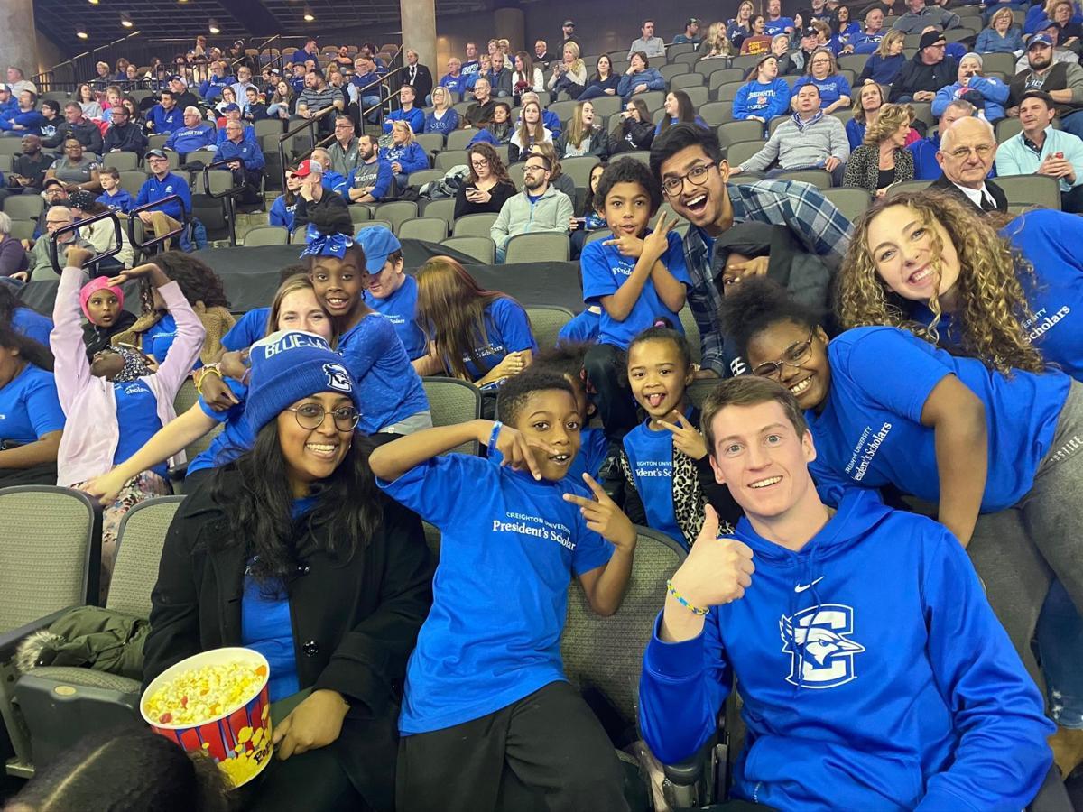President's Scholars at basketball game