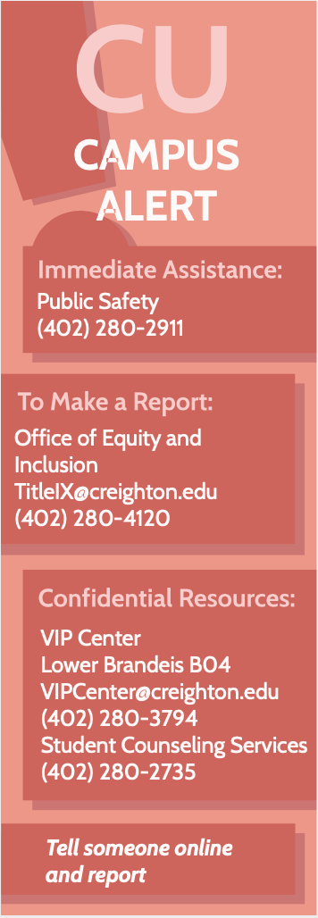 Campus alert phone numbers and emails