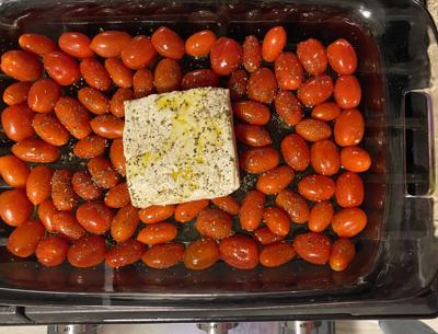Tik Tok feta cheese and tomatoes