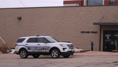 Public Safety vehicle outside building