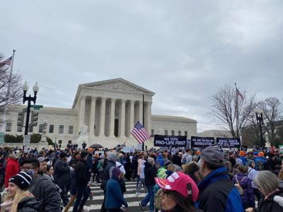March for Life in front of the U.S. Supreme Court