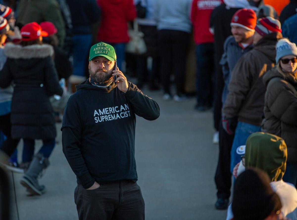 Man in American Supremacist T-shirt