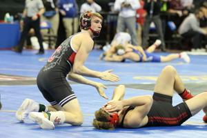Cody Hanvey and Shaw react to Hanvey's consolation-round win
