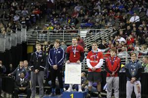 Class D 170-pound medalists