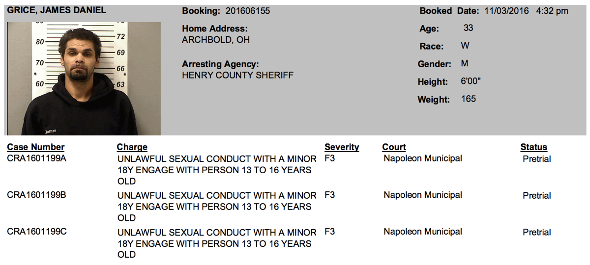 Charges against dating a minor