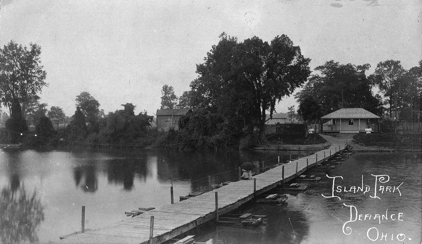 Preston Island pontoon bridge