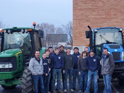 Paulding FFA tractor drive-in day