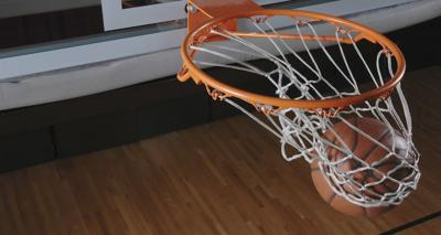Basketball in net carousel 940