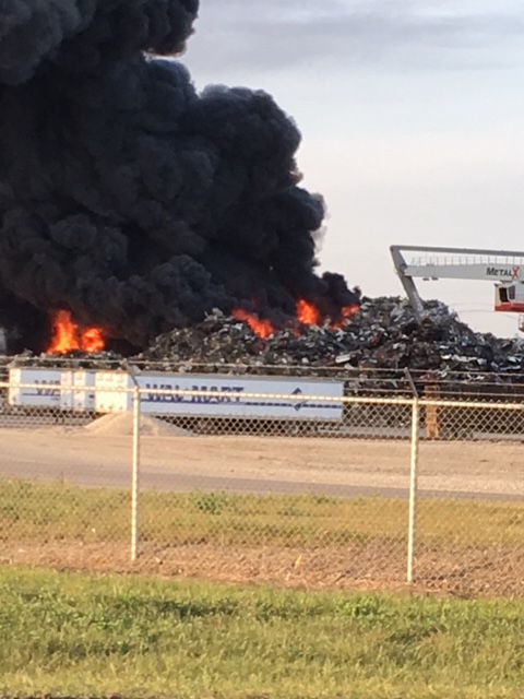 Departments battle blaze in Delta