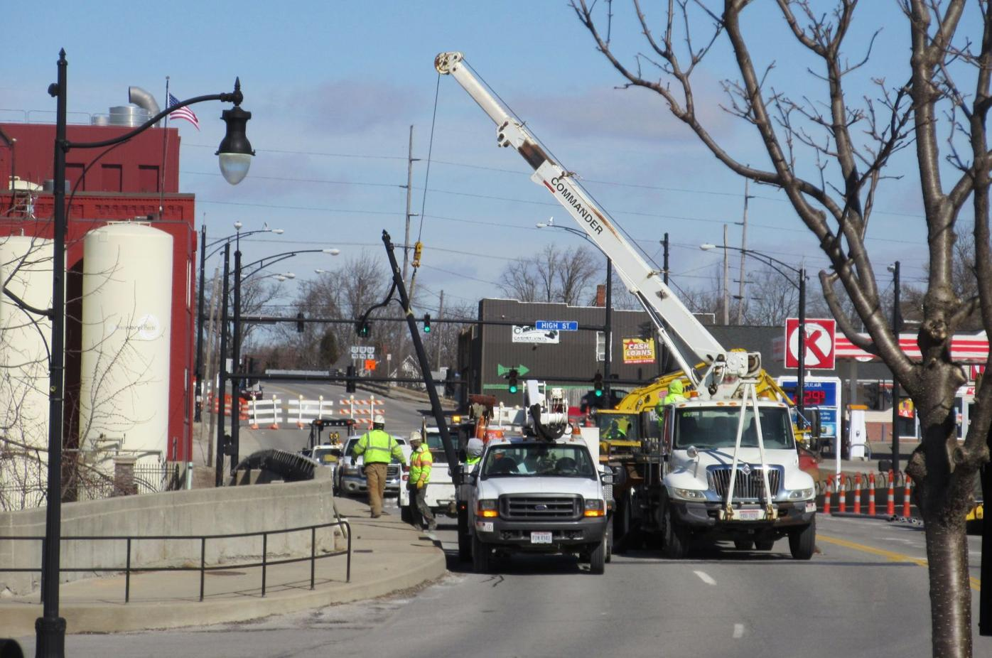 light poles removed
