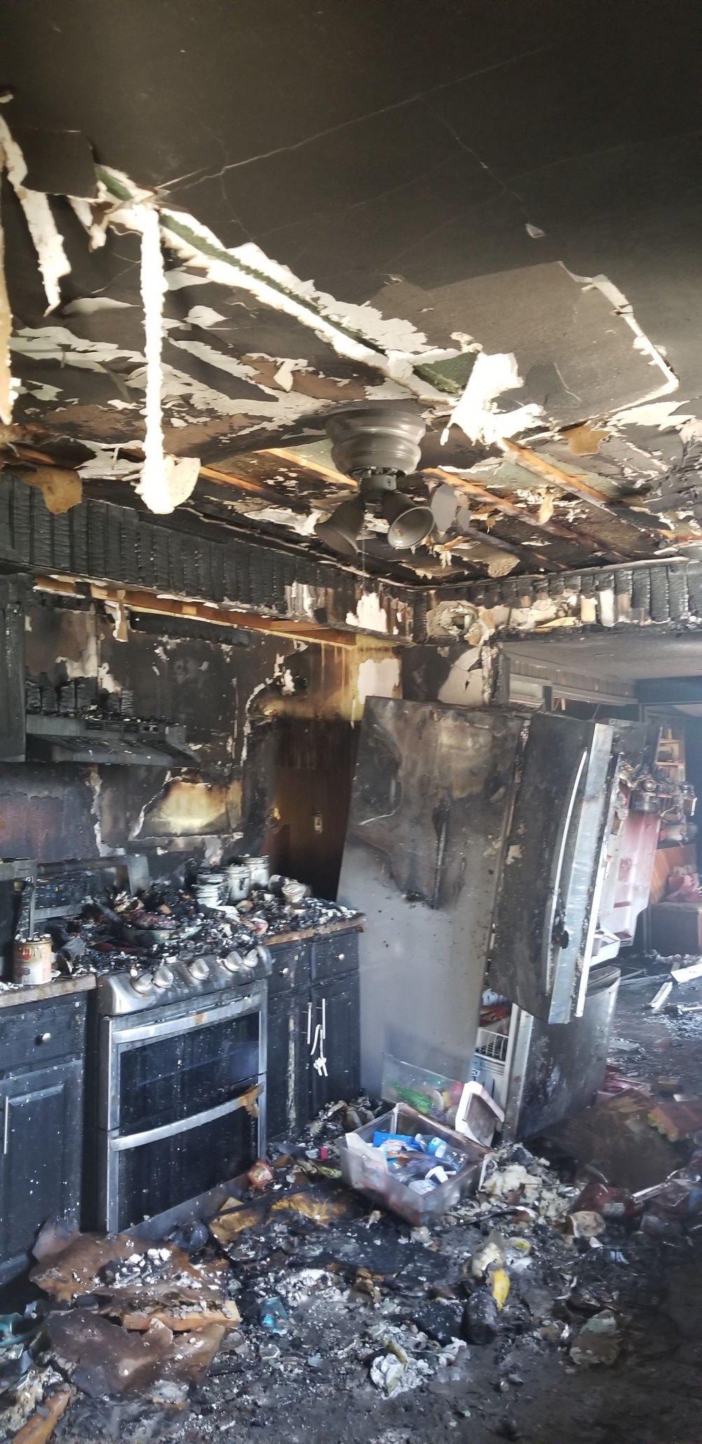 Hicksville kitchen fire