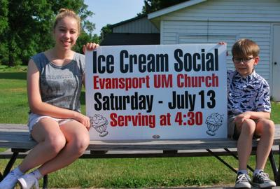 Evansport UMC ice cream social
