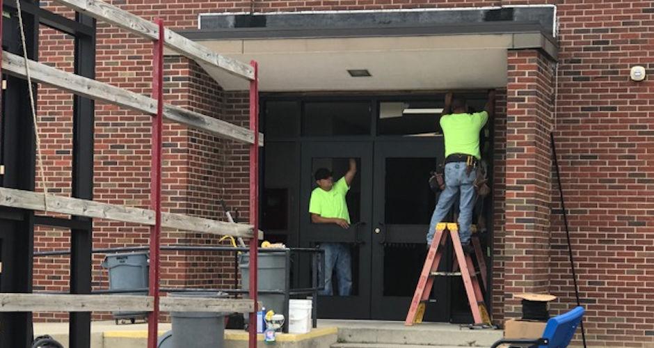 Carousel - Ayersville door work
