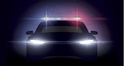 Police car carousel