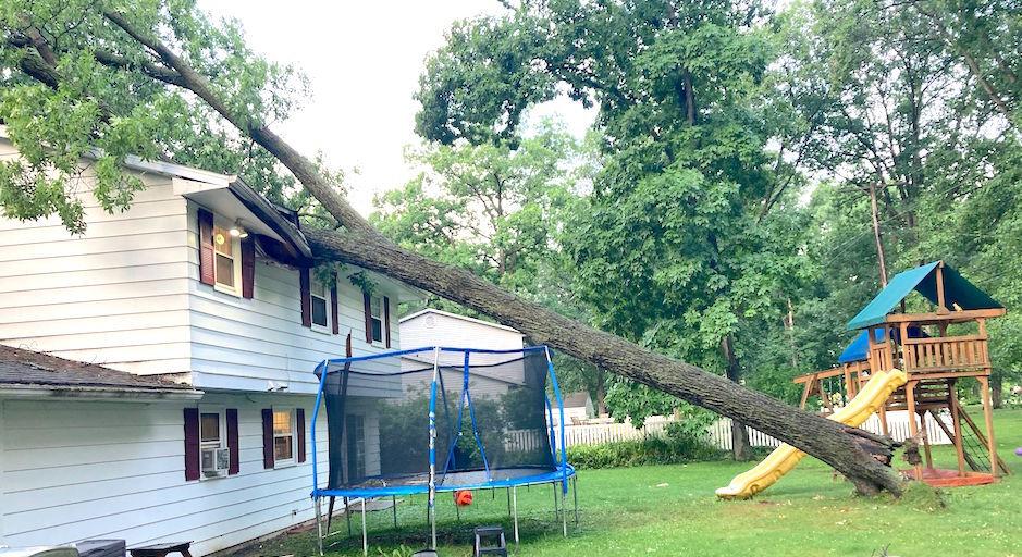 Carousel - storm damage