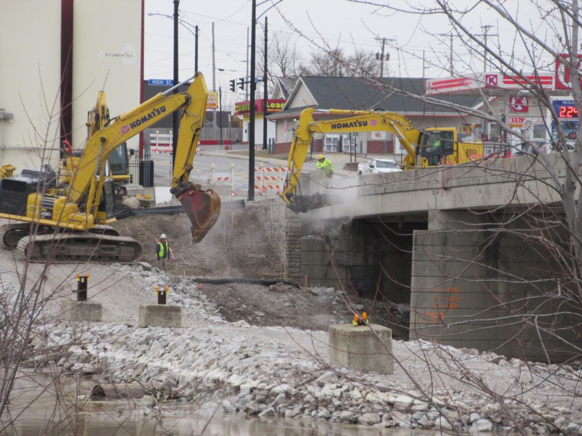 Bridge demolition, 2-28-19