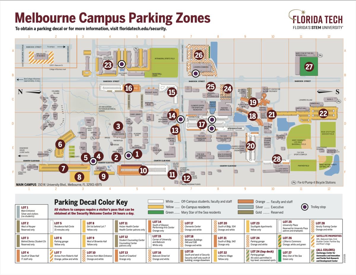 Campus Parking Zones