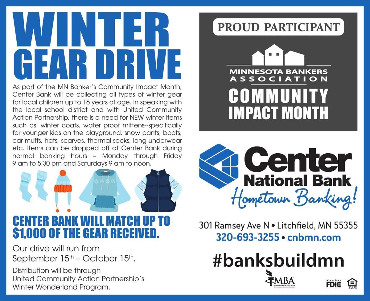 Winter Gear Drive As part of the MN
