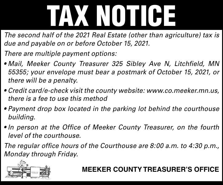 TAX NoTice The second half of the 2021