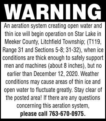 WARNING An aeration system creating