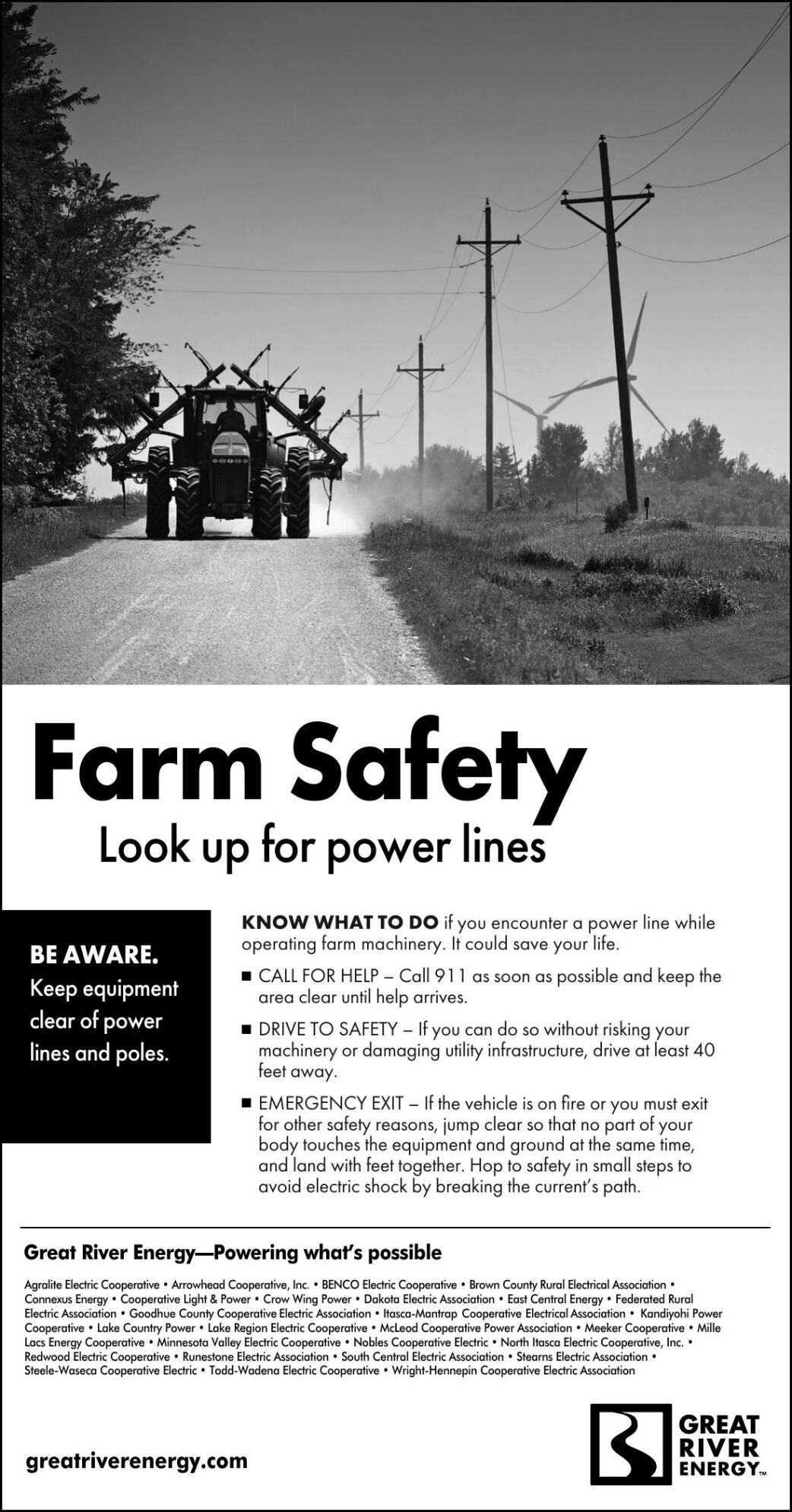 Farm Safety Look up for power lines BE