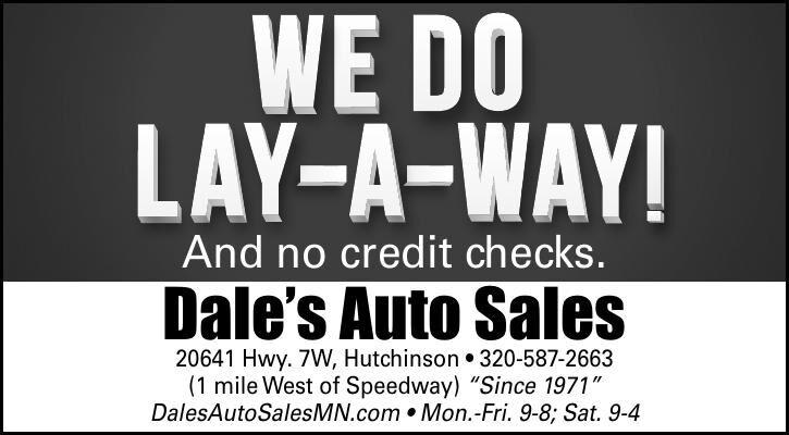 And no credit checks. Dale's Auto