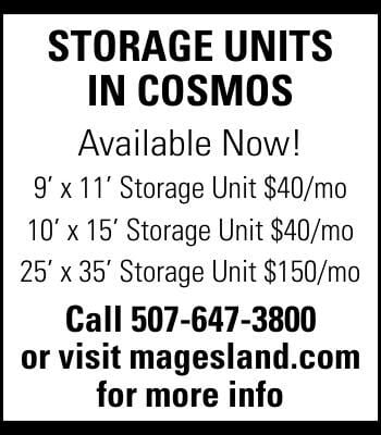 Storage UnitS in CoSmoS Available Now!
