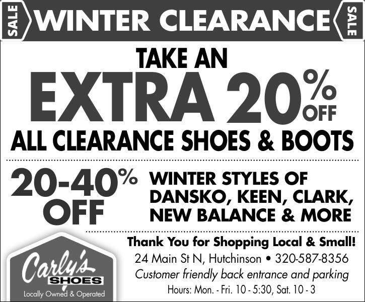 WINTER ClEaRaNCE TaKE aN EXTRa 20 all