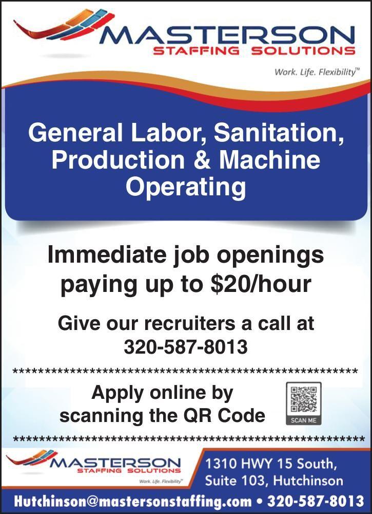 General Labor, Sanitation, Production &