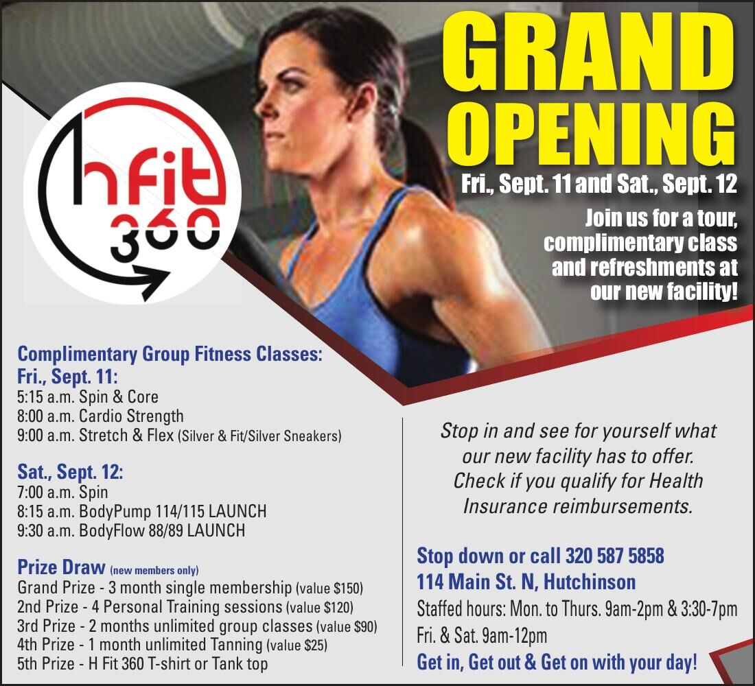 Grand OpeninG Fri., Sept. 11 and Sat.,